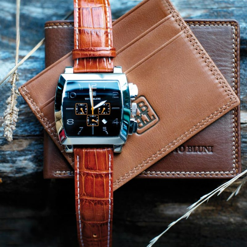 Titto Bluni-Reloj y cartera para hombre